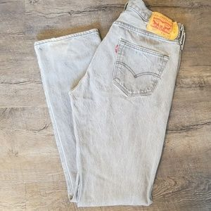 Levi Strauss 501 Grey Men's Jeans | Five Button